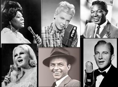 Ella, Dinah, Nat, Bing, Frank and Peggy swung.